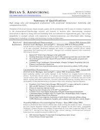 Resume District Sales Manager Resume