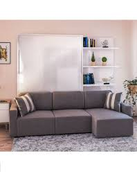 MurphySofa-Clean-sectional-glossy-wall-bed-with-3-