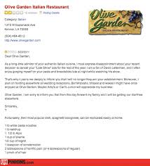 uhpinions funny reviews from yelp etc real ridiculous reviews olive garden