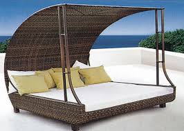 Amazing Outdoor Double Chaise Lounge Anti Uv Rattan Sunbeds Outdoor Double  Chaise Lounge For Villa