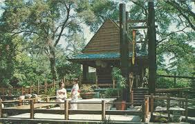 postcard featuring descanso gardens japanese garden and las wearing kimonos circa 1966