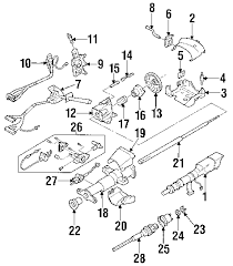 parts com® chevrolet s10 steering column assembly oem parts 2002 chevrolet s10 zr2 v6 4 3 liter gas steering column assembly