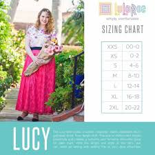 Lucy Size Chart Size Charts In 2019 Lucy Skirt Lularoe