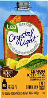 6 10 Packet Boxes Crystal Light Lemon Iced Tea Natural Flavor On The Go