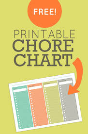 free printable charts and checklists. Chore Chart (Free Printable) - Wholefully Free Printable Charts And Checklists T