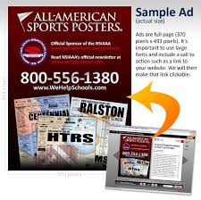 ad sample all american sports posters interactive newsletters advertising