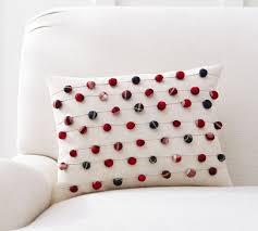 pom pom pillow. Simple Pillow Plaid Pom Lumbar Pillow Cover In O