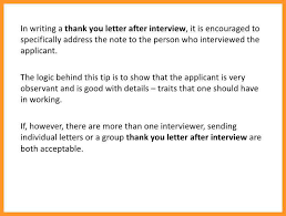 3 4 Thank You Letter After Interview Programformat Com