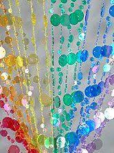 Superb Bubble Beaded Curtain Room Divider Rainbow Theme Bedroom Decorations