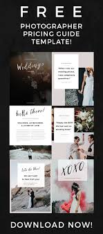 Photography Pricing Template Free Photographer Pricing Guide Template Signature Edits Edit