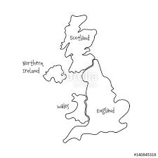 blank map united kingdom. Simple Map United Kingdom Aka UK Of Great Britain And Northern Ireland Handdrawn  Blank In Blank Map Kingdom K