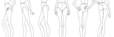 Fashion Illustration Figure Drawing Templates Template Design Free