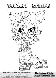 Small Picture Monster High Toralei Coloring Pages GetColoringPagescom