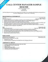 Call Center Floor Manager Sample Resume New Sample Resume For Bpo Jobs Experienced And Resume Template Free