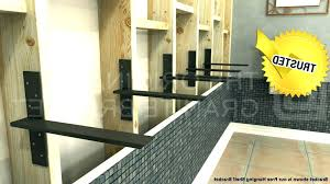 floating granite countertop support how to install