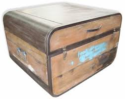 Industrial 60u0027s Vintage Style Metal And Timber Trunk