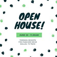 Open House Invite Samples Customize 498 Open House Invitation Templates Online Canva