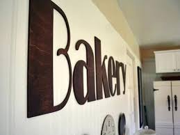 wood wall letters a bakery letters for kitchen font stained by customer wooden wall letters for wood wall letters