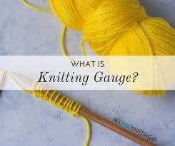 Knitting Stitch Gauge Chart What Is Knitting Gauge Allfreeknitting Com