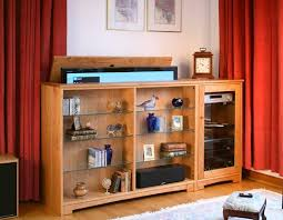 hidden television furniture. flatscreen tv hidden on an automatic lift hides inside the cabinet when you television furniture y