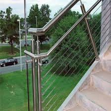 steel cable railing. DIY Stainless Steel Cable Railing/Stainless Balustrade For Balcony With Wood Post Railing