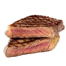 cooked steak with white background. Beautiful Cooked Bison11 In Cooked Steak With White Background