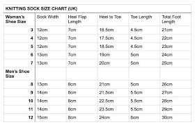 Darn Tough Vermont Sock Size Chart Image Result For Sock Size Chart Knitting Knitting Socks