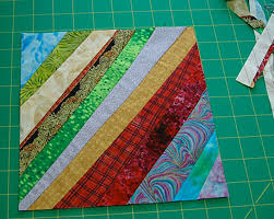 Learn How to Make String Quilts & Finished String Quilt Block Adamdwight.com