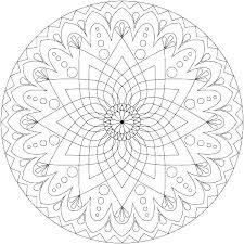 Coloring Mandala Advanced Mandala Coloring Pages Printable Mandala