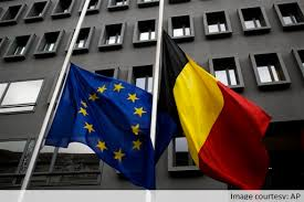 Image result for belgian flag at half mast