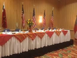 Jrotc Military Ball Decorations Redan High school JROTC head table setupjust enough of a 4