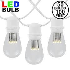 100 Light Warm White C9 String Set 50 Warm White Led S14 Heavy Duty String Light Sets On White