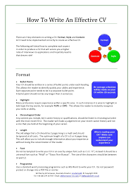 How To Write An Effective Resume 4 How To Write An Effective Cv