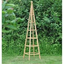 wooden garden obelisk 1 9m