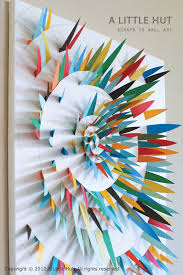scraps to wall art 4 on 3d paper wall art tutorial with a little hut patricia zapata use paper scraps to make wall art