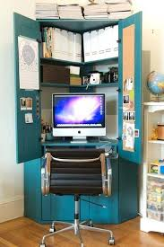 tall corner computer desk tucked in a corner hideaway home office corner  computer paper and s