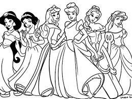 Free Coloring Pages Disney Princesses | Coloring Page for Kids