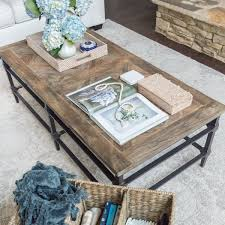 rectangular reclaimed wood coffee table