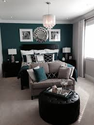 black bedroom furniture ideas. bedroom with a beautiful green or teal feature accent wall and black accents furniture ideas d
