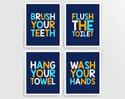 Kids bathroom sign Cartoon Kids Bathroom Wall Art Prints Bathroom Rules Kids Bathroom Signs Printable Bathroom Decor Boy Bathroom Digital Art Prints 001ba810n023 Etsy Kids Bathroom Signs Etsy