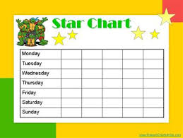 Gold Star Sticker Chart 55 Unmistakable Star Chart For Good Behavior