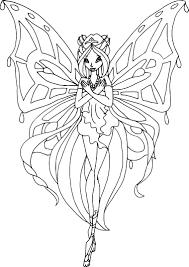 Coloriage Winx Believix Flora A Imprimerl