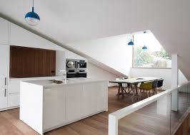 A Sloping Green Roof Hides The Split Level Interior Of Belgiums - Split level house interior