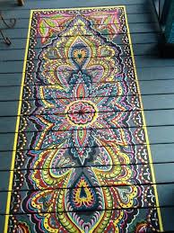 wooden floor stencils faux rug floor painting