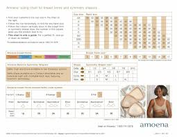 Breast Chart Amoena Breast Forms Size Chart