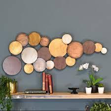 circular gold modern wall art black