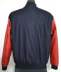 walldorf technology by stateline australia men s varsity jacket with leather sleeves made in australia ac 32 1 1 kg