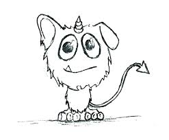 Coloring Pages Monster Coloring Pages Easy Page Extinct Animal
