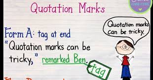 Quotation Marks Anchor Chart Quotation Marks Anchor Chart With Freebie Crafting