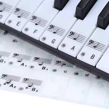 Stave Music 88 Keys Transparent Key Note Keyboard Sound Name Stickers Piano Stave Music Decal Label Note For Piano Electronic Keyboard